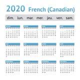 2020 γαλλικό αμερικανικό ημερολόγιο Καναδός στοκ φωτογραφία