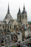 γαλλικό γραφικό χωριό στοκ εικόνες