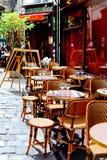 γαλλικό εστιατόριο Στοκ Φωτογραφία