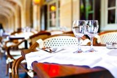 γαλλικό εστιατόριο Στοκ εικόνα με δικαίωμα ελεύθερης χρήσης
