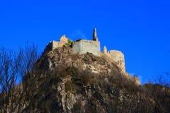 Γαλλικό κάστρο Usson σε Ariege Στοκ Φωτογραφία