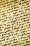 γαλλικό κείμενο ανασκόπ&eta Στοκ εικόνες με δικαίωμα ελεύθερης χρήσης