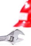 γαλλικό κλειδί ασφάλειας πιθήκων κρανών κινηματογραφήσεων σε πρώτο πλάνο Στοκ φωτογραφίες με δικαίωμα ελεύθερης χρήσης