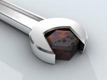 γαλλικό κλειδί μπουλονιών Στοκ φωτογραφίες με δικαίωμα ελεύθερης χρήσης
