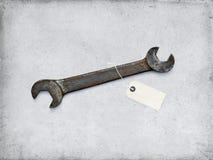 Γαλλικό κλειδί, παλαιό, ανασκόπηση, βασικό grunge Στοκ Φωτογραφίες