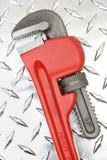 γαλλικό κλειδί σωλήνων στοκ εικόνα