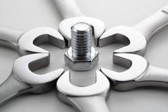 γαλλικό κλειδί 2 προτύπων Στοκ εικόνες με δικαίωμα ελεύθερης χρήσης