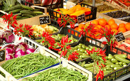γαλλικό λαχανικό αγοράς Στοκ φωτογραφία με δικαίωμα ελεύθερης χρήσης