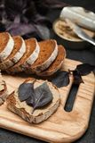 Γαλλικό μαγείρεμα, πατέ συκωτιού κοτόπουλου Εύγευστος ορεκτικός στοκ φωτογραφία με δικαίωμα ελεύθερης χρήσης