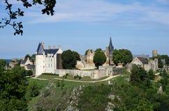 γαλλικό μεσαιωνικό χωριό Στοκ φωτογραφία με δικαίωμα ελεύθερης χρήσης