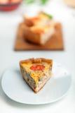 γαλλικό πίτα της Λωρραίνη&sigma Στοκ Φωτογραφίες