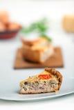 γαλλικό πίτα της Λωρραίνη&sigma Στοκ εικόνες με δικαίωμα ελεύθερης χρήσης