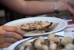 γαλλικό σαλιγκάρι γευμά Στοκ Εικόνες