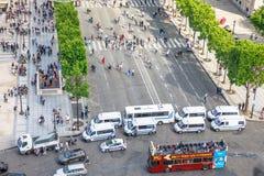 Γαλλικό σημείο ελέγχου αστυνομίας Στοκ Εικόνα