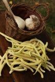 γαλλικό σκόρδο φασολιών Στοκ Εικόνες