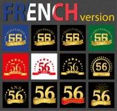 Γαλλικό σύνολο αριθμού 56 πρότυπα διανυσματική απεικόνιση