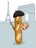 Γαλλικό ψωμί Διανυσματική απεικόνιση