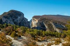 Γαλλικό Gorges du Verdon Γαλλία Στοκ Εικόνες