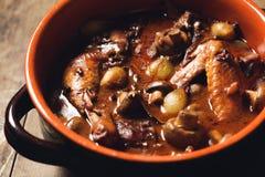 Γαλλικό stew κοτόπουλου Στοκ φωτογραφίες με δικαίωμα ελεύθερης χρήσης