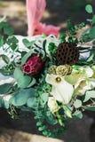 Γαμήλια αγροτική ανθοδέσμη Στοκ φωτογραφία με δικαίωμα ελεύθερης χρήσης