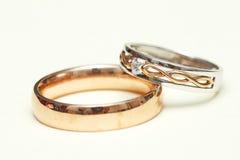 Γαμήλια δαχτυλίδια αρραβώνων - σειρά 1 Στοκ Εικόνα