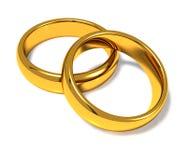 Γαμήλια δαχτυλίδια Διανυσματική απεικόνιση