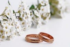 Γαμήλια δαχτυλίδια Στοκ Φωτογραφίες