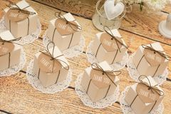 Γαμήλια δώρα για το φιλοξενούμενο Στοκ εικόνα με δικαίωμα ελεύθερης χρήσης