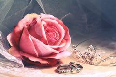 Γαμήλια εκλεκτής ποιότητας ακόμα ζωή Στοκ Εικόνα