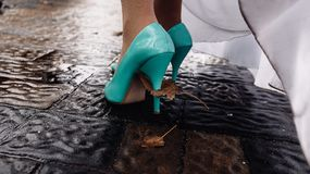 γαμήλια παπούτσια Οκτώβριος Στοκ Εικόνες