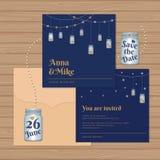 Γαμήλια πρόσκληση ή ευχετήρια κάρτα με τα βάζα κτιστών διάνυσμα Ελεύθερη απεικόνιση δικαιώματος