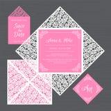 Γαμήλια πρόσκληση ή ευχετήρια κάρτα με τη floral διακόσμηση Έγγραφο Απεικόνιση αποθεμάτων