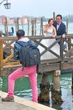 Γαμήλια φωτογραφία στη Βενετία, Ιταλία στοκ εικόνες