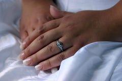 Γαμήλια χέρια στοκ εικόνες