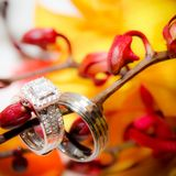 Γαμήλιες απαγορεύσεις, ένα σημάδι της αγάπης και υποχρέωση στοκ φωτογραφία με δικαίωμα ελεύθερης χρήσης