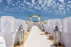 Γαμήλιες διακοσμήσεις στο βράχο Nossa Senhora Armacao de Pera Στοκ εικόνες με δικαίωμα ελεύθερης χρήσης