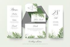 Γαμήλιες επιλογές, ετικέτα, κάρτα θέσεων, λεπτομέρειες, flo καρτών επιτραπέζιου αριθμού απεικόνιση αποθεμάτων