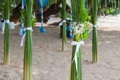Γαμήλιες floral διακοσμήσεις στην παραλία στην Ταϊλάνδη Στοκ Φωτογραφίες