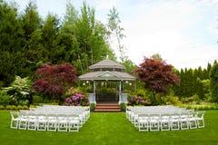 Γαμήλιοι τόπος συναντήσεως και έδρες Στοκ φωτογραφίες με δικαίωμα ελεύθερης χρήσης