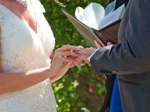 Γαμήλιοι όρκοι στοκ φωτογραφία