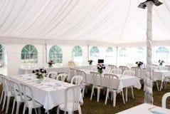 γαμήλιο λευκό σκηνών Στοκ εικόνες με δικαίωμα ελεύθερης χρήσης