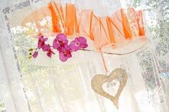 γαμήλιο παράθυρο διακοσμήσεων Στοκ Εικόνες