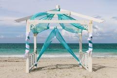 Γαμήλιο gazebo στην παραλία, Κούβα, Varadero Στοκ Φωτογραφία