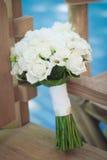 Γαμήλια άσπρη ανθοδέσμη Στοκ Εικόνα