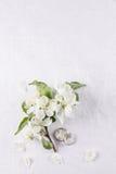 Γαμήλια έννοια με τα λουλούδια Apple-δέντρων Στοκ Φωτογραφία