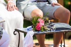 Γαμήλια ανθοδέσμη - ζεύγος - Τοσκάνη, Ιταλία Στοκ εικόνες με δικαίωμα ελεύθερης χρήσης