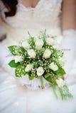 Γαμήλια ανθοδέσμη με τα τριαντάφυλλα επάνω Στοκ Εικόνες