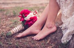 Γαμήλια ανθοδέσμη στο έδαφος Στοκ φωτογραφία με δικαίωμα ελεύθερης χρήσης