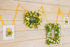 Γαμήλια ανθοδέσμη στο πλαίσιο Στοκ εικόνες με δικαίωμα ελεύθερης χρήσης