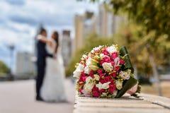 Γαμήλια ανθοδέσμη της νύφης στοκ φωτογραφίες